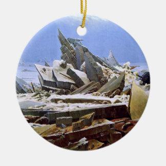 The Sea of Ice, Caspar David Friedrich Ceramic Ornament