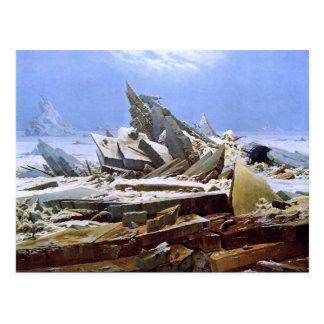The Sea of Ice, Caspar David Friedrich Postcard