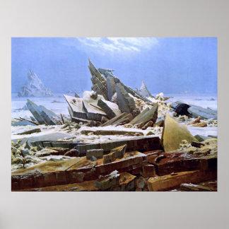 The Sea of Ice, Caspar David Friedrich Poster