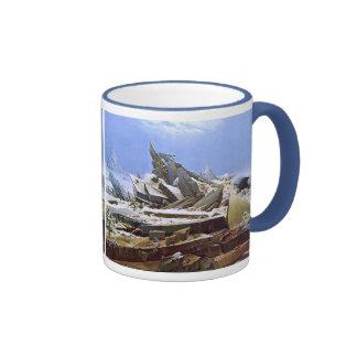 The Sea of Ice, Caspar David Friedrich Ringer Mug