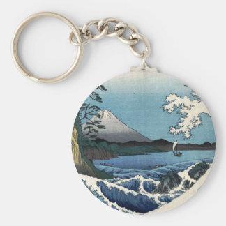 The Sea off Satta in Suruga Province, Hiroshige Keychain