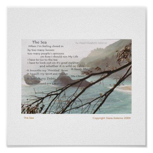 The Sea print
