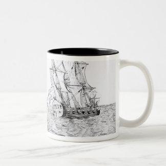The Sea Serpent Two-Tone Coffee Mug