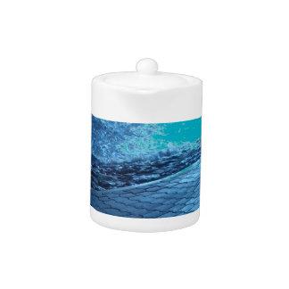 The Sea Shore, Serenity Blue Nature Photo Teapot