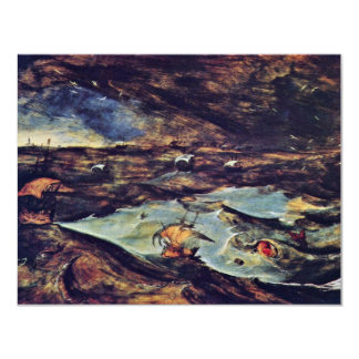 The Sea Storm By Bruegel D. Ä. Pieter 4.25x5.5 Paper Invitation Card
