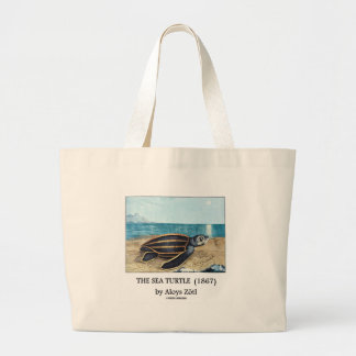 The Sea Turtle (1867) by Aloys Zötl Large Tote Bag