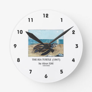 The Sea Turtle (1867) by Aloys Zötl Round Clock