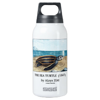 The Sea Turtle (1867) by Aloys Zötl Thermos Water Bottle
