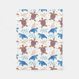 The Sea Turtle Pattern Fleece Blanket