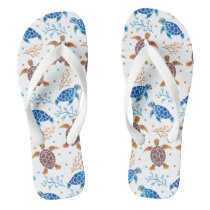 The Sea Turtle Pattern Flip Flops