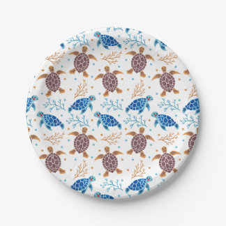 The Sea Turtle Pattern Paper Plate