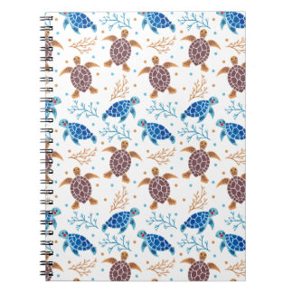 The Sea Turtle Pattern Spiral Notebook
