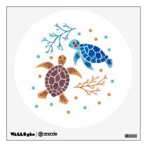 The Sea Turtle Pattern Wall Sticker