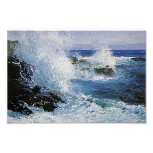 The Sea View of Cliffs by Guy Rose Poster