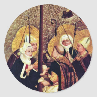 The Sea Voyage Of The Holy By Moser Lucas (Best Qu Classic Round Sticker