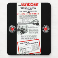 The Seaboard RailRoad Silver Comet Train Mouse Pad