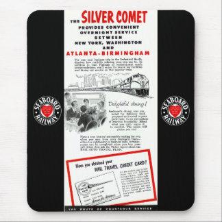 The Seaboard RailRoad Silver Comet Train Mouse Pad