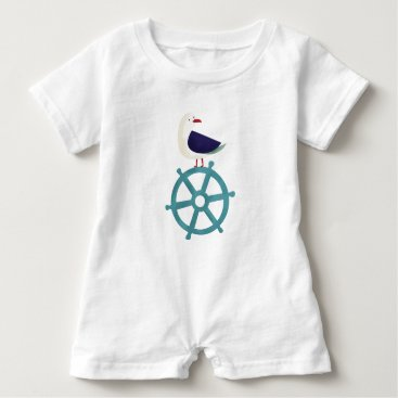 Beach Themed The Seagul Baby Romper