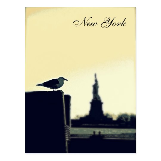The Seagull and The Statue of Liberty Postcard