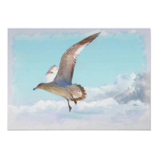 The Seagull Oil Painting Print Standard Canvas