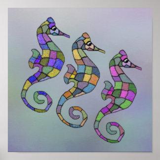 The Seahorse Rainbow Canvas Print
