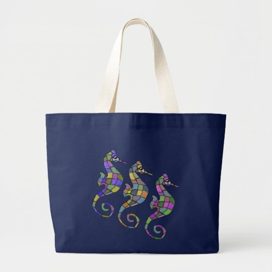 The Seahorse Rainbow Large Tote Bag