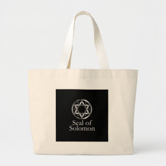 The seal of Solomon- a magical symbol or Hexagram Large Tote Bag