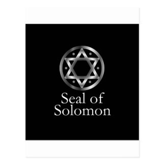 The seal of Solomon- a magical symbol or Hexagram Postcard