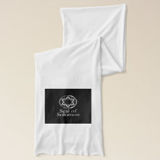 The seal of Solomon- a magical symbol or Hexagram Scarf