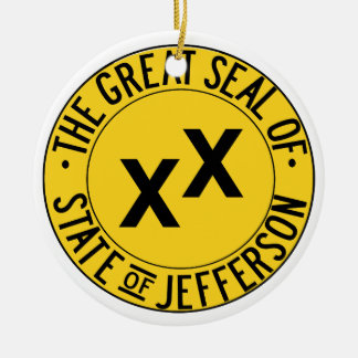 The Seal of the State of Jefferson Ceramic Ornament