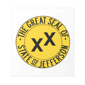 The Seal of the State of Jefferson Scratch Pads