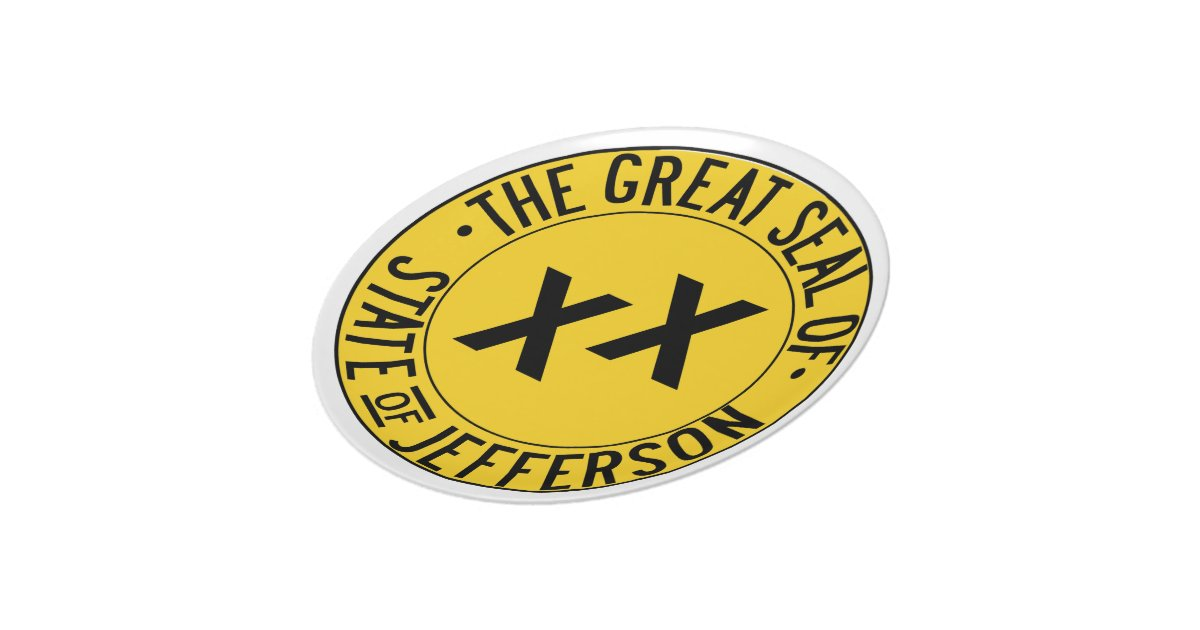 The Seal Of The State Of Jefferson Plate Zazzle