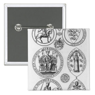 The Seals of Edward I 2 Inch Square Button