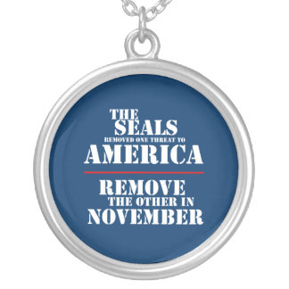 THE SEALS REMOVED ONE THREAT TO AMERICA ROUND PENDANT NECKLACE