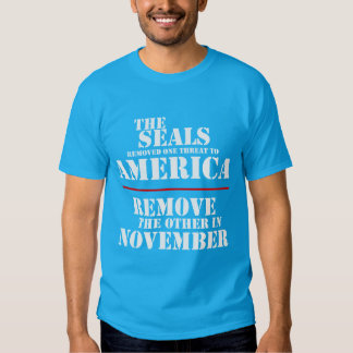 THE SEALS REMOVED ONE THREAT TO AMERICA TEE SHIRT