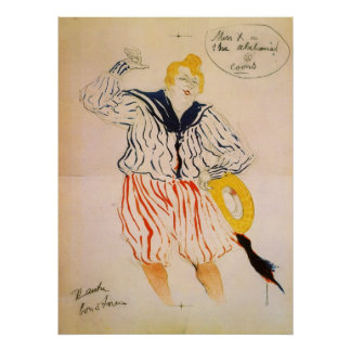 The seamen song by Toulouse-Lautrec Poster