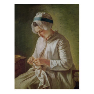 The Seamstress or, Young Woman Working Post Card
