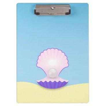 Beach Themed The Seashell Clipboard