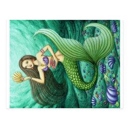 The Seashell Collector Mermaid Postcard
