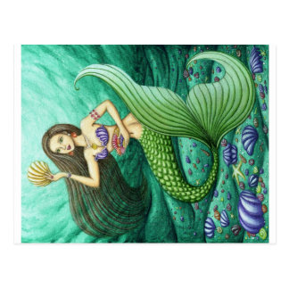 The Seashell Collector Mermaid Postcard