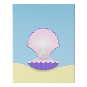 Art Themed The Seashell Faux Canvas Print