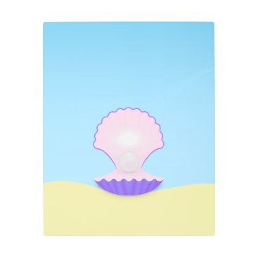 Beach Themed The Seashell Metal Print