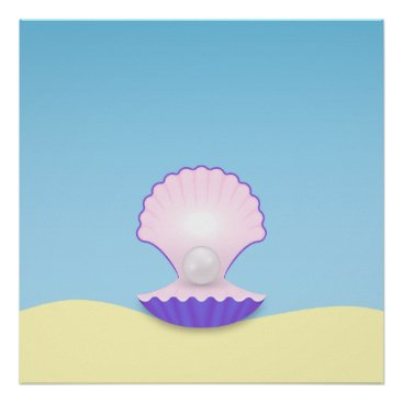 Beach Themed The Seashell Poster