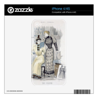 The Season, fashion plate for 'The Queen', Septemb iPhone 4 Skins