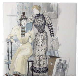 The Season, fashion plate for 'The Queen', Septemb Tile