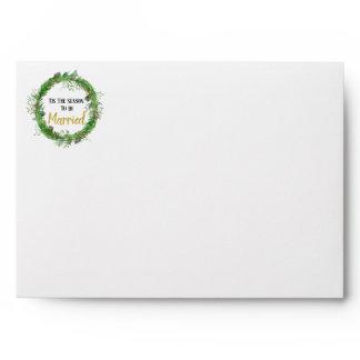 The Season to be Married | Greenery Return Address Envelope