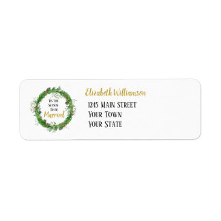 The Season to be Married | Winter Greenery Wedding Label