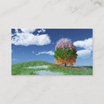 The Season Tree Bookmarks Business Card