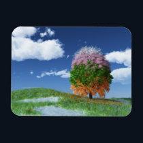 The Season Tree Flexible Magnet