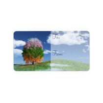 The Season Tree Gift Label